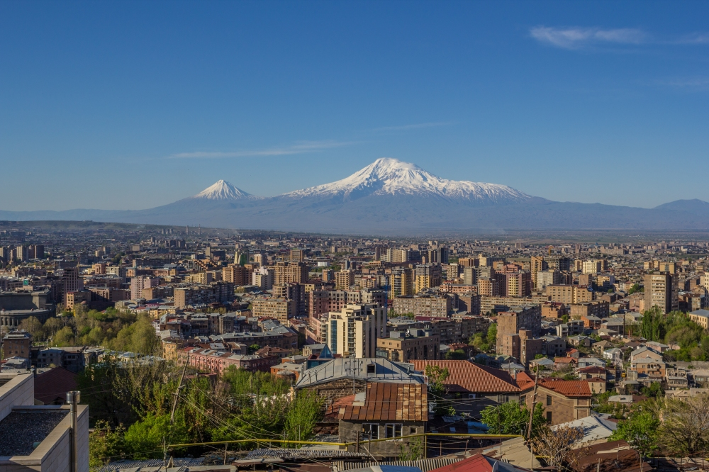 Masis (Mount Ararat) viewed from Yerevan